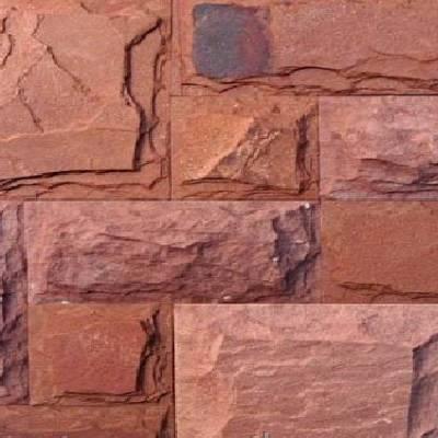декоративный камень индия плитка красная