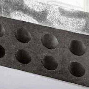 Лунный мрамор пустотелый стандартный шлифованный «КРИСТАЛЬ» серый