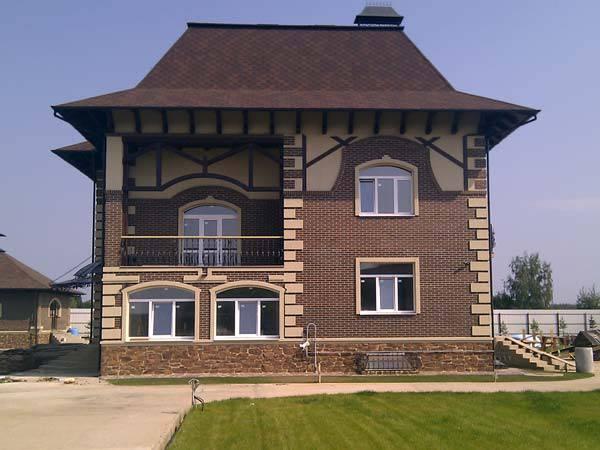 керамический кирпич дом