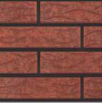 клинкерный кирпич Рустика с таркером Рубин 13 фото